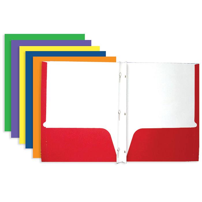 2 Pocket Folders with Prongs - Mazer Wholesale