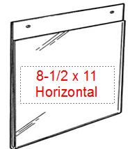 plastic sign holder, 8-1/2 x 11