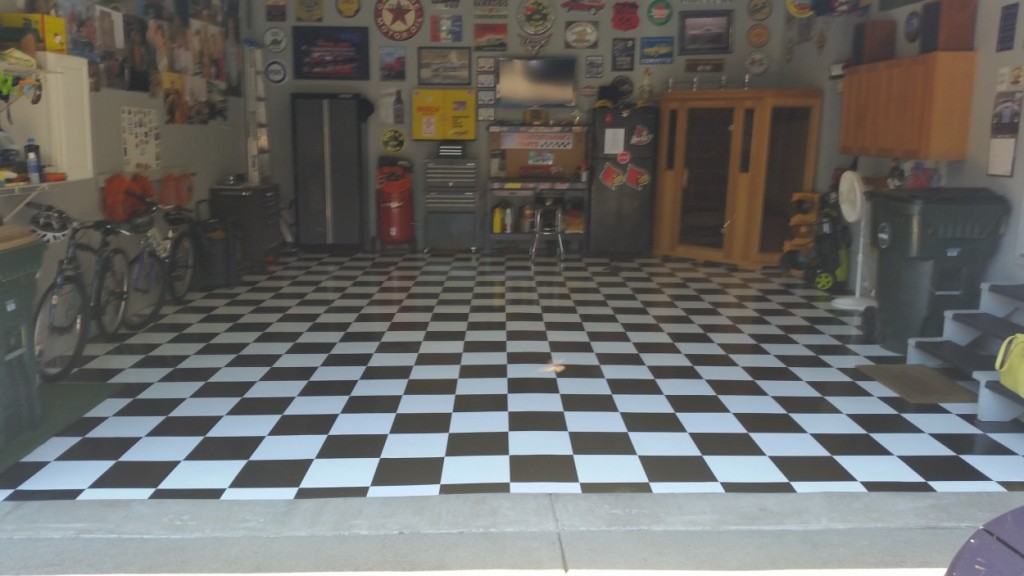 garage floor tile installation