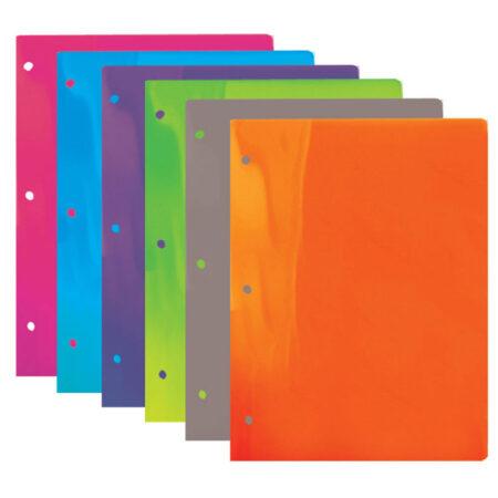 Cheap Translucent 2 Pocket Folders