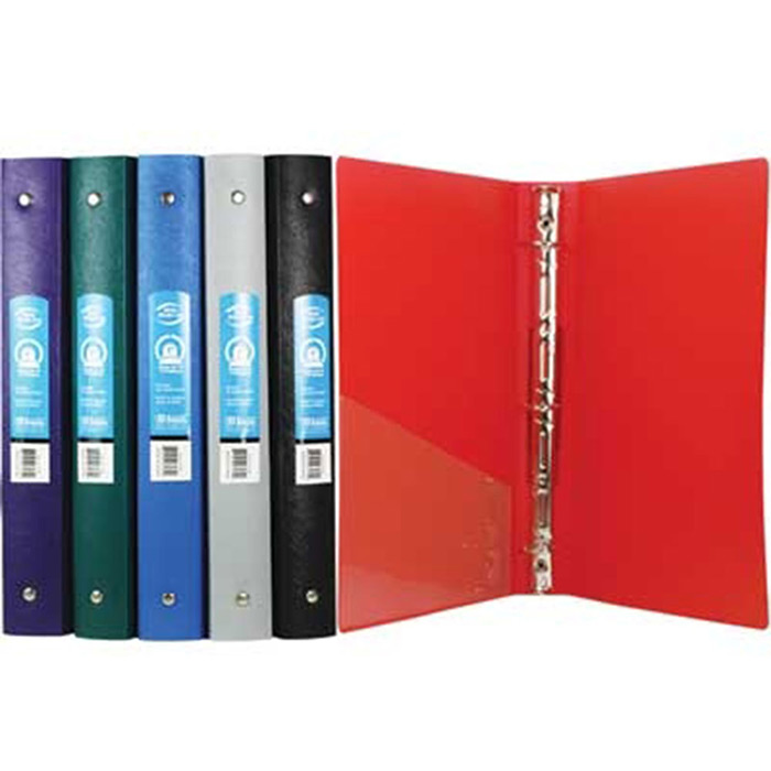 "Cheap 1"" 3-Ring Binder with Pocket"