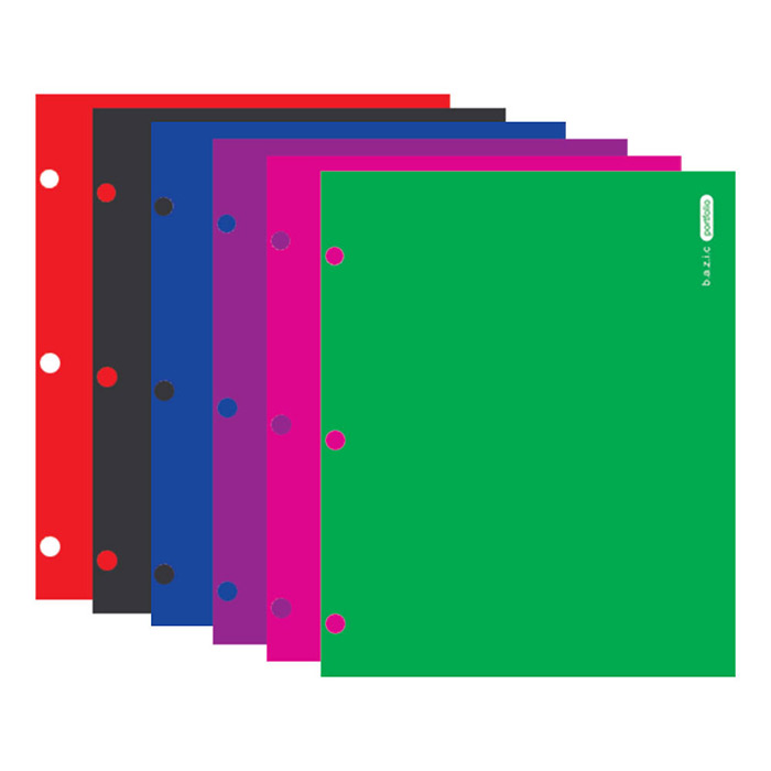 Cheap 2 Pocket Folders with 3 Hole Punch