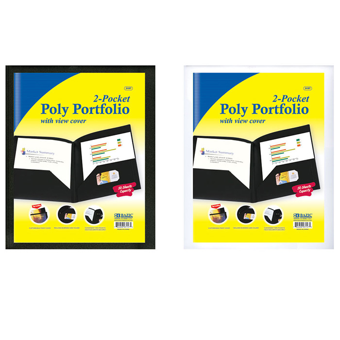 Cheap Report Portfolio with View Cover