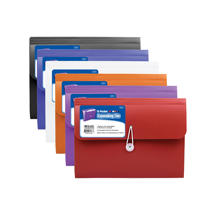 Poly Expanding Folder, 7 Pockets Letter Size