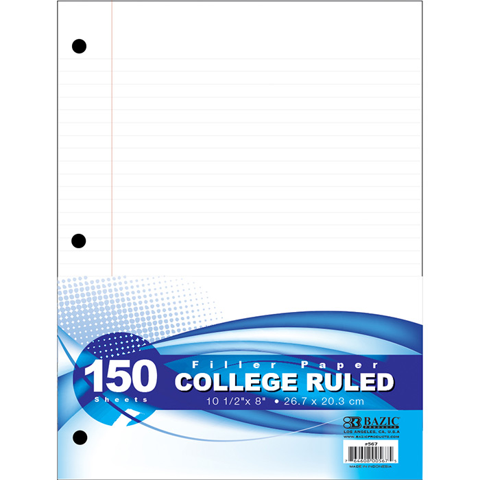 Cheap college ruled loose leaf paper