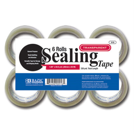 Cheap packing tape, 6 rolls