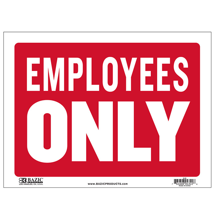 Cheap Employees Only SIgn