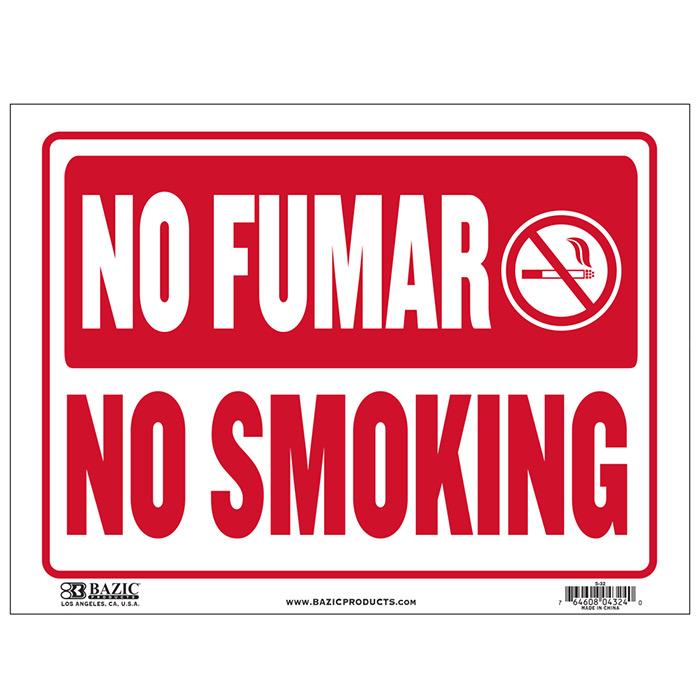 cheap spanish no smoking signs