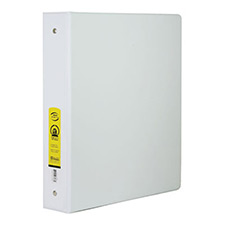 white 3 ring binder