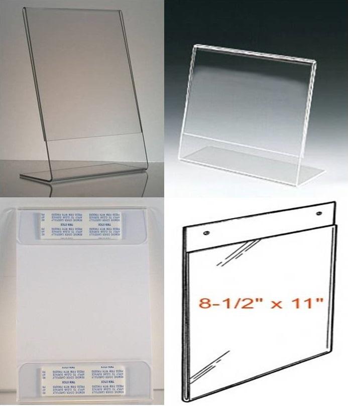 8-1/2 x 11 clear acrylic frames bulk