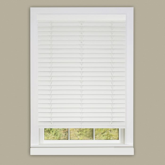 Cordless Madera Falsa 2 Quot Faux Wood Plantation Blind 39x64