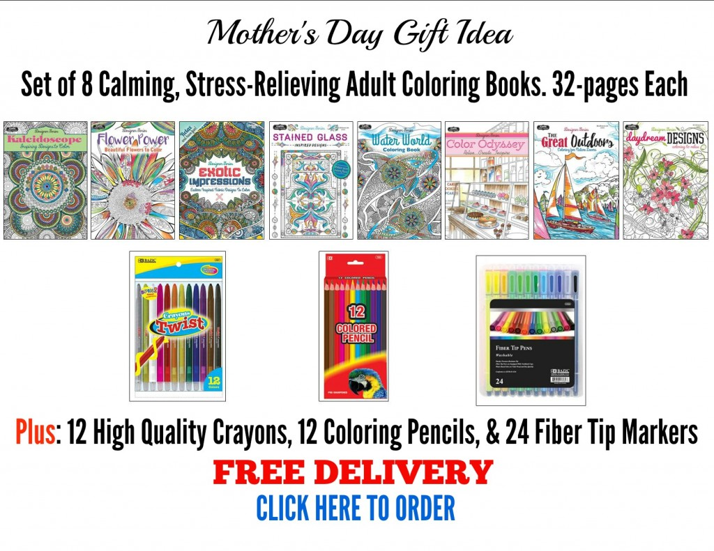 Adult coloring books-mothers day gift ideas