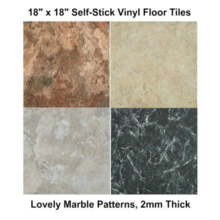 Peel & Stick Vinyl Tile, 18x18
