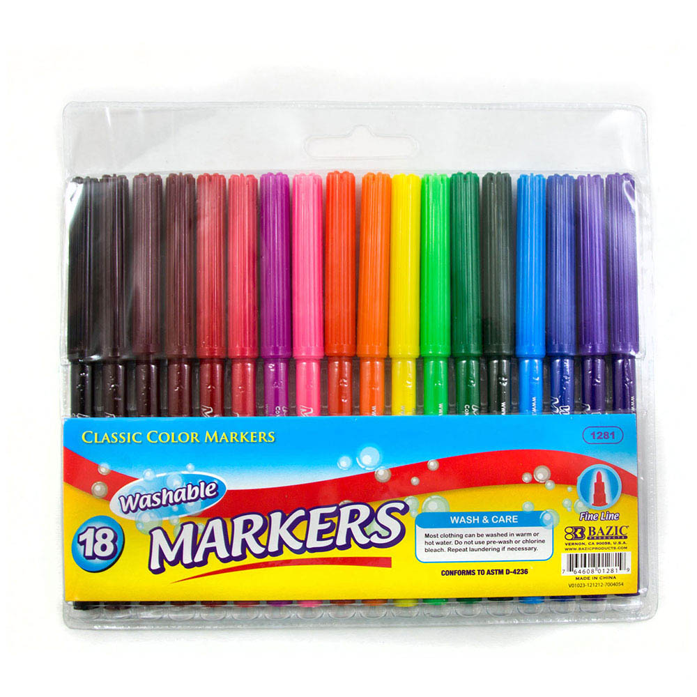 Cheap Washable Markers 18 Colors