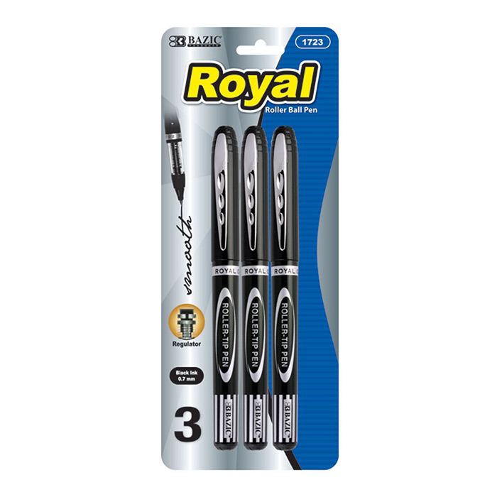 3 pack cheap roller ball pens
