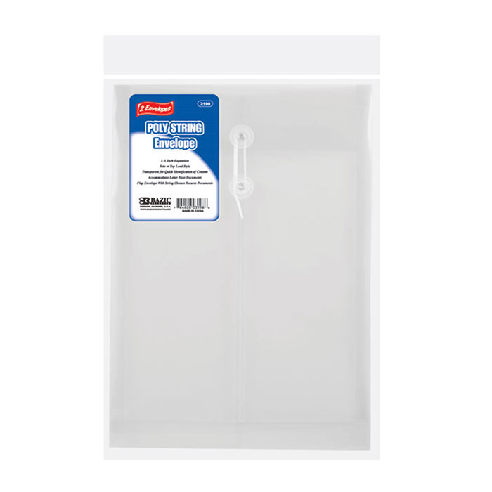 Cheap Clear Letter Size Envelope