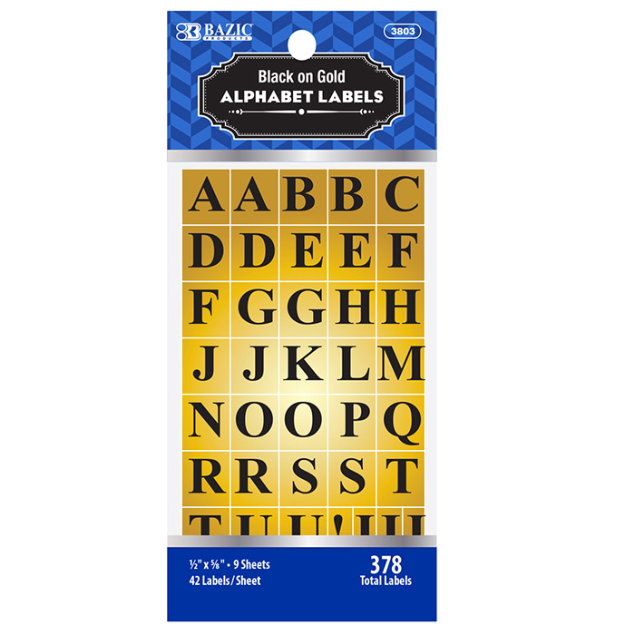 Cheap Gold Foil Alphabet Labels