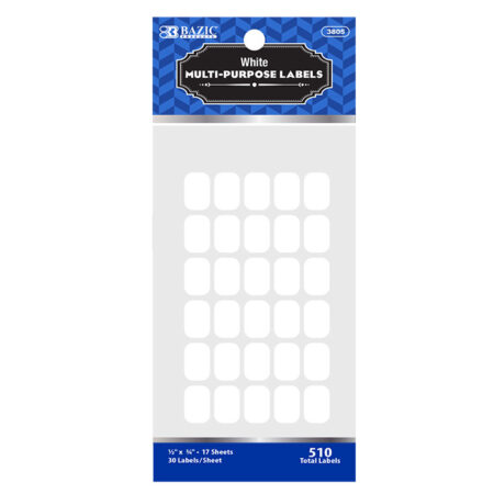 "Cheap White Multipurpose Labels 1/2"" x 3/4"""