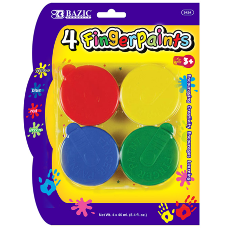 Finger paint set 4-pack