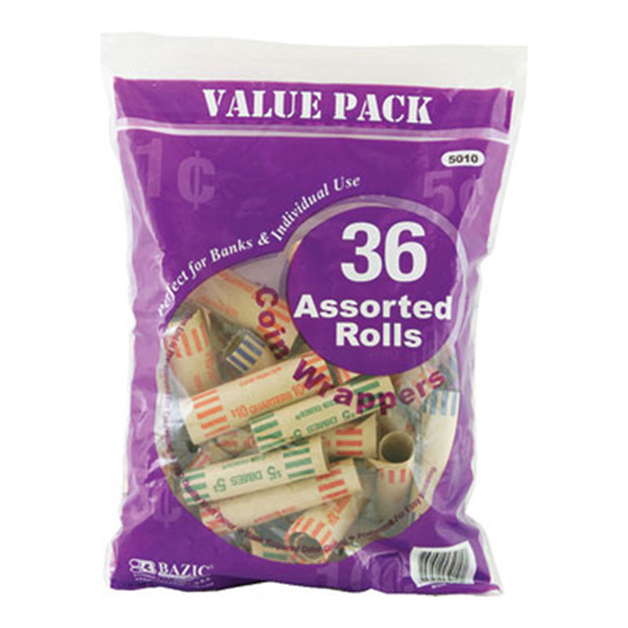 Cheap assorted coin wrappers