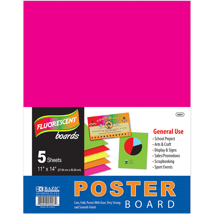 Cheap poster board fluorescent 5 pack