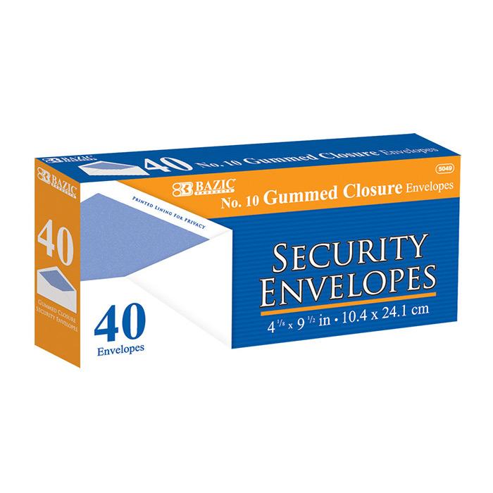 Cheap No. 10 Security Envelopes