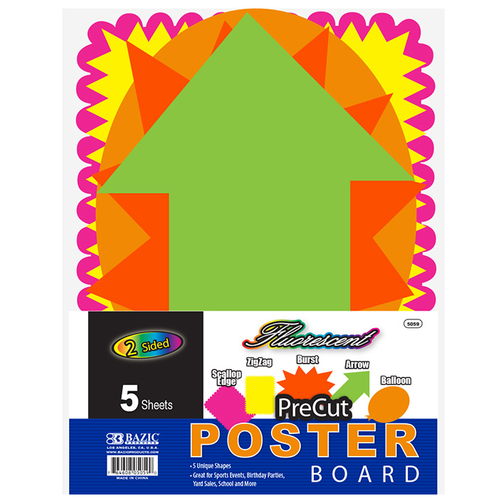 Cheap precut poster board shapes - 5 shapes