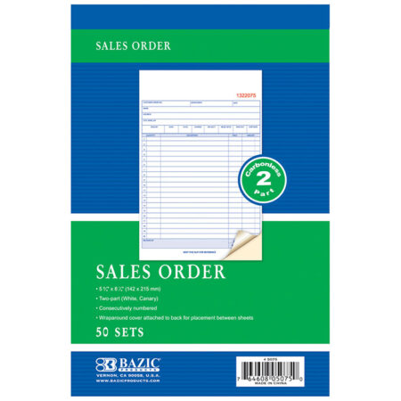 Cheap 2 Part Carbonless Sales Orders