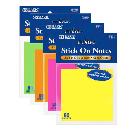 Neon Stick On Notes Cheap