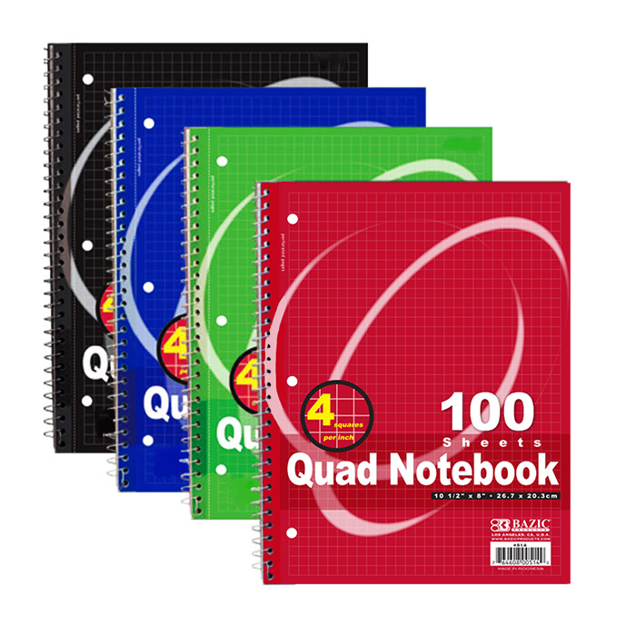 Cheap Quad Spiral Notebook
