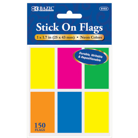 Neon Stick On Flags