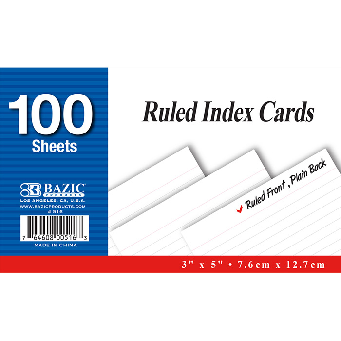 Cheap Lined Index Cards