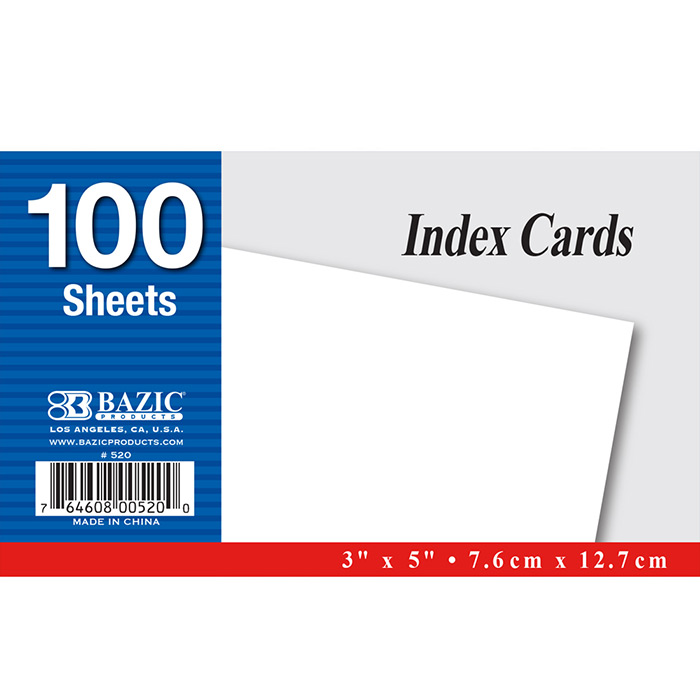 Cheap blank index cards