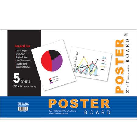 Cheap white poster board 22 x 14