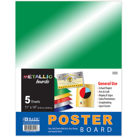 Cheap metallic poster board 5 pack