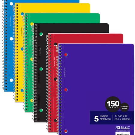 Cheap spiral notebooks 5 subjects