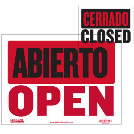 cheap Store Open signs in SPanish