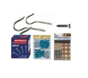 packaged hardware-hoods, screws
