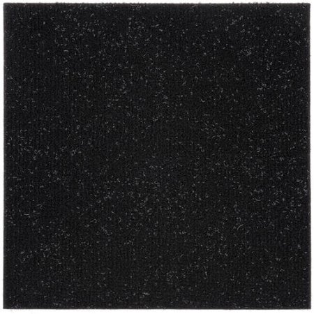 Black carpet tiles