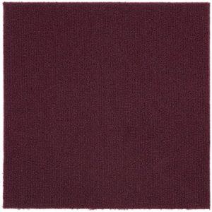Peel and stick carpet tiles-burgundy