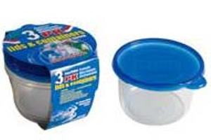 Deep Round Container with Lid 28oz-3PK