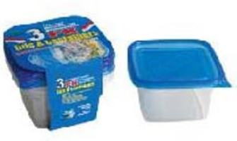 Deep Square Container with Lid 34oz-3PK