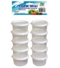 Mini Round Storage Containers with Lid 3.0oz-10PK