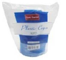 Plastic Cups, Solid Blue 16oz-16PK