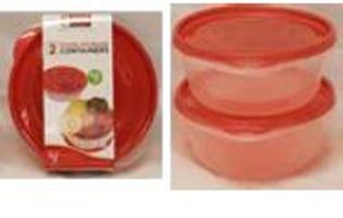 ROUND STORAGE CONTAINERS(1.3L)-2PK