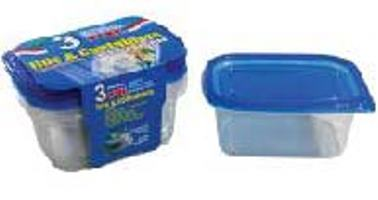 Rectangle Container with Lid 24oz-3PK