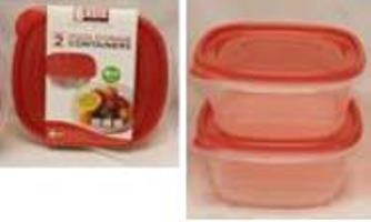 SQUARE FOOD STORAGE CONTAINERS(1L)-2PK