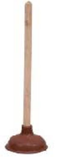 Toilet Plunger with Wooden Handle