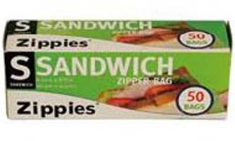Zip Seal Sandwich Bags 6.5 x5. 875 50CT