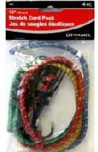 BUNGEE CORD 18 INCHES PACK 4PC